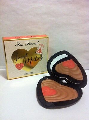 Too Faced Soul Mates BLUSHING BRONZER Carrie & Big - FULL SIZE - Authentic