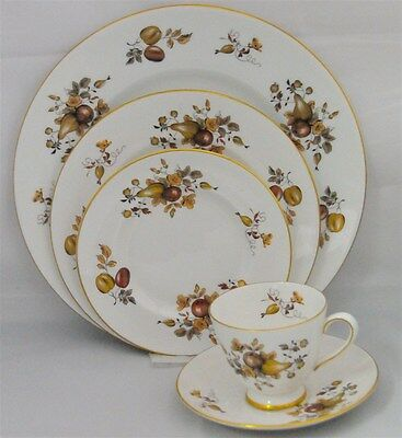 1-5 Piece Place Setting in Golden Fruit  by Tuscan - Royal Tuscan -New Never Use