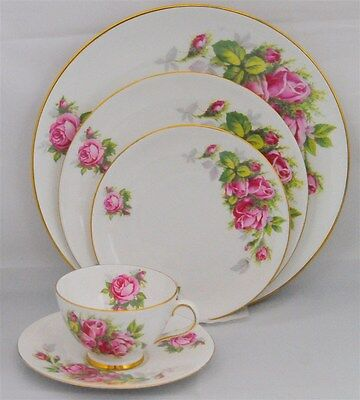 1-5 Piece Place Setting in Moss Rose by Tuscan - Royal Tuscan ( 2 Available )