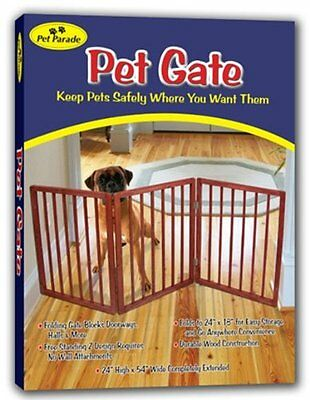 Dog Pet Gate Indoor Barrier Free Standing Folding Safety Fence Security Panel
