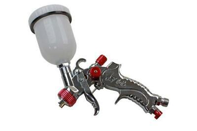 US PRO Gravity FEED HVLP Mini SPRAY GUN Touch up 0.8mm Nozzle B8772
