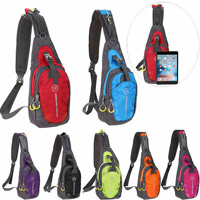 Men Women Nylon Sling Bag Chest Shoulder Hiking Bicycle Bag Backpack Waterproof