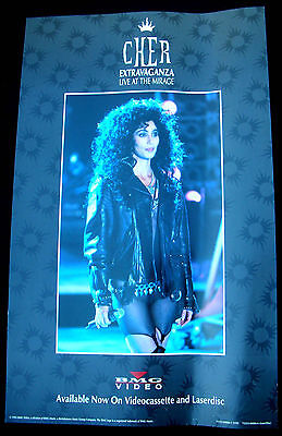 CHER Extravaganza Live At The Mirage Promo Poster Mint- 1992 ORIGINAL!
