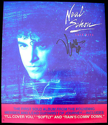 NEAL SCHON Late Night AUTOGRAPHED Vintage Promo Poster Mint- 1989 ORIGINAL!