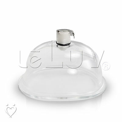LeLuv Replacement Clear Acrylic Vacuum Vagina Cup & Fitting for Female Pumps