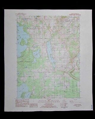 Grawn Michigan vintage 1984 old USGS Topo chart