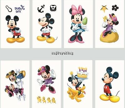 1-60 Mickey Mouse Temporary Tattoos Kids Girls Party Favors Bag Filler