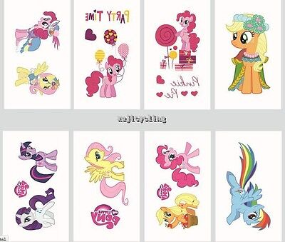 1-60 My Little Pony Temporary Tattoos Kids Girls Party Favors Bag Filler