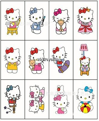 1-60 Hello Kitty Temporary Tattoos Girl Party Favors Bag Fillers Stickers