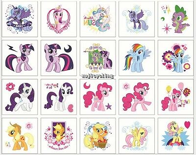1-100 My Little Pony Temporary Tattoos Girl Party Favors Bag Fillers Sticker
