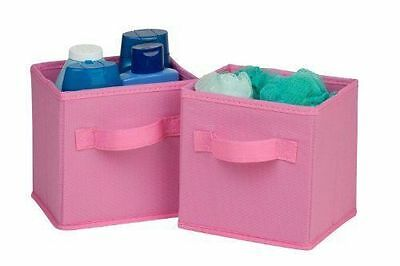 Honey-Can-Do 2 Pack Blue Mini Folding Storage Cube, Pink, SFT-02087