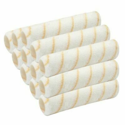 "12 Pcs Reusable Paint Roller Covers 9"" x 3/8"" Nap Washable PVC Plastic Core NEW"