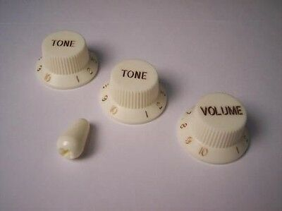 Parchment KNOBS & Tip for FENDER STRATOCASTER STRAT