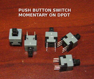 5X Push Button switch momentary ON 6 PIN DPDT 8.5mmX8.5mm