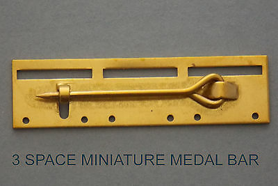 Miniature Bar 3 Space Medal Mounting Court Military Mount Medals Military Brass