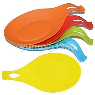 Silicone Spoon Rest Heat Resistant Kitchen Utensil Spatula Holder Cooking Tool A