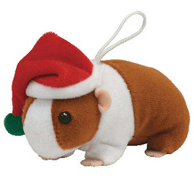 TY Holiday Baby Beanie - GOODIES the Guinea Pig (3 inch) - MWMTs Ornament Toy