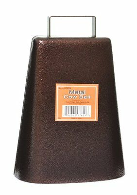 STEEL COW BELL Antique Style Copper Finish Cowbell Music Sports Pep Rally Cheer!