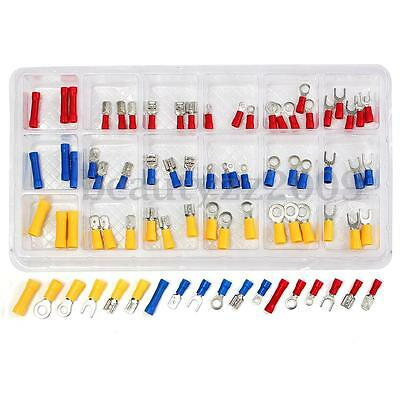 76Pcs Assorted Insulated Electrical Wire Terminal Crimp Connector Spade Set Kit