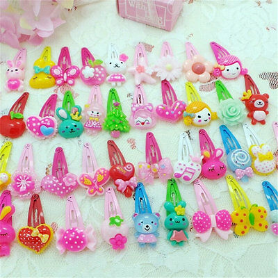 20pcs Hair Clips Cute Mixed Color Assorted Baby Kids Girls Hair Pin Accessories