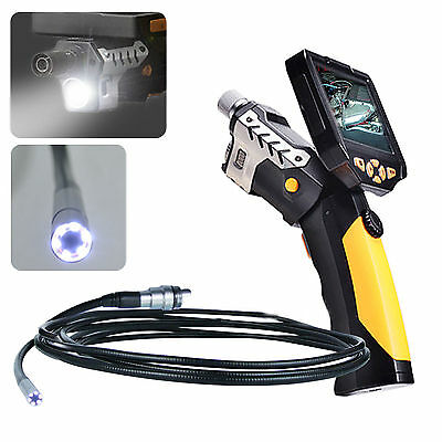 "3.5"" LCD Inspection Camera Adjustable 8.2 mm Borescope Endoscope Scope 3M Cable"