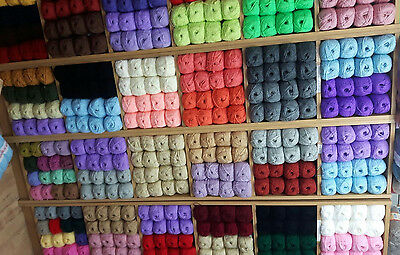 WHOLESALE JOB LOT 50 balls of hand knitting WOOL yarn SALE NEW FABULOUS  100g