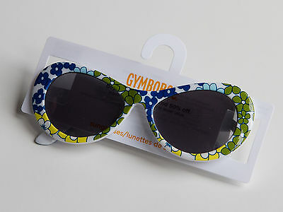 New Gymboree Sea Splash Sunglasses White with Flowers Size 4 and Up NWT