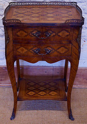 Antique French 19th Century Louis XV Veneered Side Table