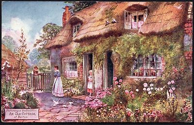 Postcard - Bedfordshire - An Old Cottage, Barton