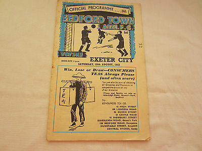 1953-54 BEDFORD TOWN SOUTHERN LEAGUE v EXETER CITY RESERVES