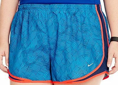 Womens NIKE DRI-FIT Tempo shorts PLUS Size 2x 2xl Track running 20 22 print blu