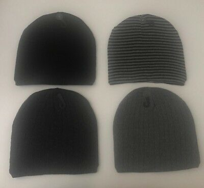 Knit Beanie Winter Hats/Men women/BlacK, Black-Gray, Gray, Dark Gray
