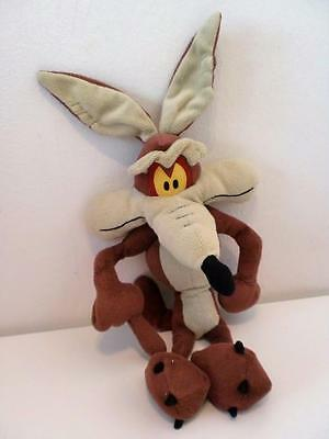 "Retro Warner Bros Looney Tunes Wile E Coyote Plush Soft Toy Doll 12"" 1990s"