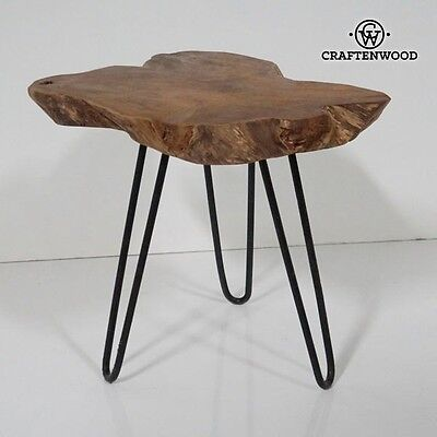 Vintage Natural Trunk Wooden Kanton Side Table **Craftenwood**  2 Years Warranty