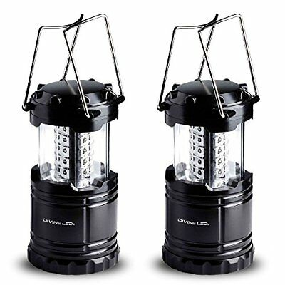 Divine Leds 2 Pack Ultra Bright Portable Outdoor Led Camping Lantern (Black Coll
