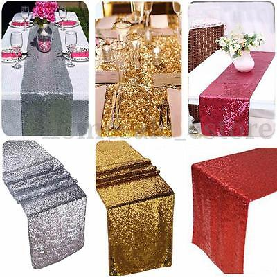 """12""""x108"""" Gold Sequin Table Runner Wedding Party Decorations Table Decoration"""