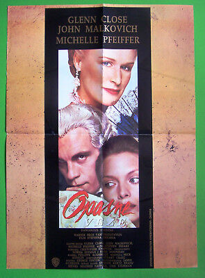 dangerous LIAISONS movie poster GLENN CLOSE michelle pfeiffer 24X36 INTENSE