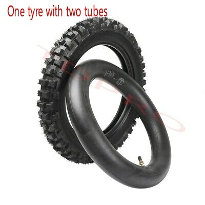 """80/100 - 12"""" Inch Rear Knobby Tyre Tire Tube PIT Trail Dirt Bike 3.00-12"""