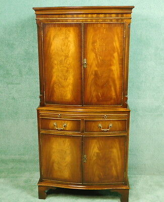 Bevan Funnell Reprodux Mahogany Drinks Cocktail Cabinet