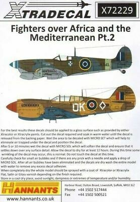 Xtradecal X72229 1/72 Fighters Over Africa and Mediterranean Pt.2 Model Decals