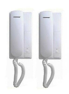 Commax 2-Way 1 to 1 Indoor Intercom System AC110V Powered TP-1BE//TP-1BS