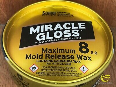 MEGUIAR'S MIRROR GLAZE MAXIMUM 8 MOLD RELEASE WAX 11 oz.