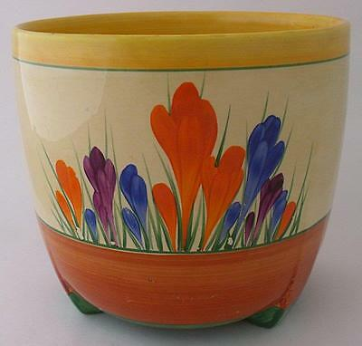 Large Clarice Cliff Bizarre Jardiniere - Autumn Crocus - 1930's Art Deco