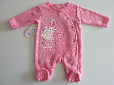 PEPPA PIG Love Little Peppa Gorgeous Pink fleecy Sleepsuit NWT