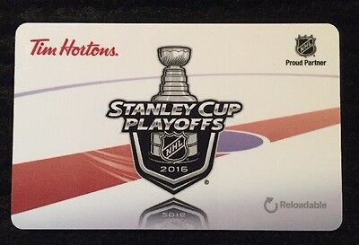 Tim Hortons Nhl Stanley Cup Playoffs 2016 Reloadable Gift/tim Card New