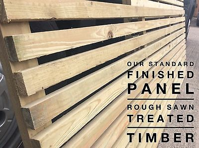 Extra wide slatted fence panel, modern fencing, contemporary fence