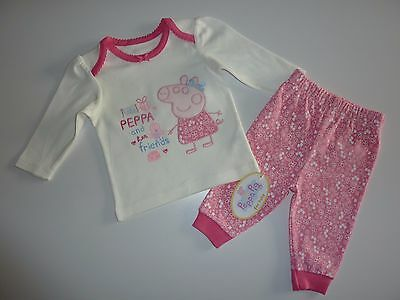 PEPPA PIG Little PEPPA and her friends Little Girls PJ's NWT