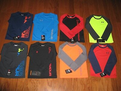 Under Armour Long Sleeve Shirt Boys Size 4/5/6/7   Nwt