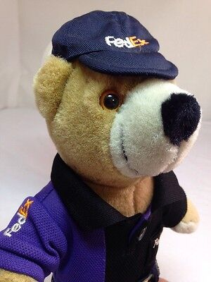 "FedEx, FED EX, Federal Express, RARE, Vintage, Plush Bear ( 10"")"