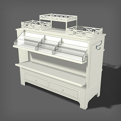 Display fixture Used All in One Shop Around Island w Storage Drawer